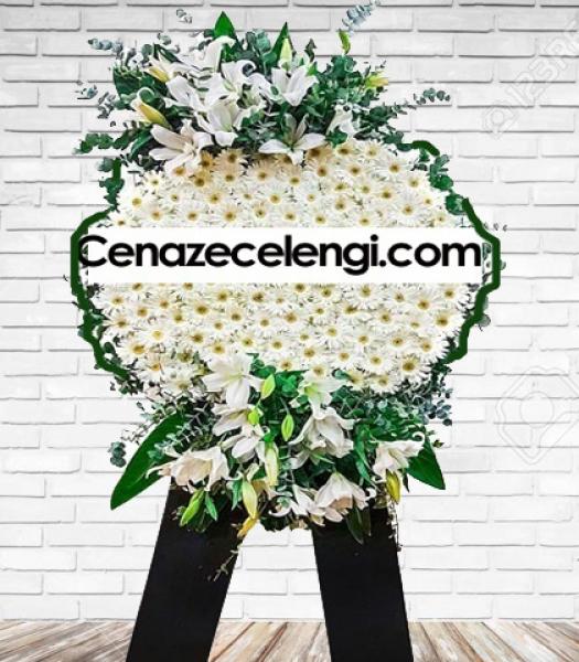 Cenaze Çelengi Beyaz Lüx